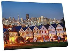 "Pingo World 0429QAJY654 ""San Francisco Painted Ladies Skyline"" Gallery Wrapped C - $47.47"