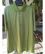 Bobby Jones Short Sleeve  Green Stripes Golf Shirt Size M 100% Cotton Me... - $21.23