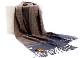 Men's Fleece Cashmere Feel Scarf Classic Plaids Infinity Scarf shawl Blue