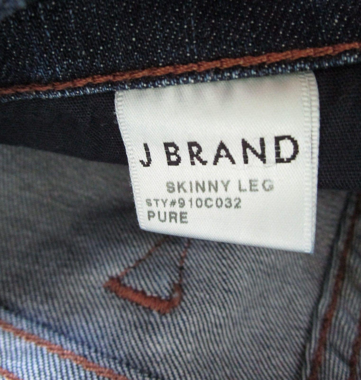 "J BRAND Women's Dark Denim Skinny Leg ""Pure"" 5 Pocket Jean Size 27 image 5"