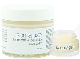 Collagen + Stem Cell Facial Kit: Plant Stem Cell Moisturizer & Lip Colla... - $76.47