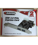 RAYGO  USB 3.0 PCle Express Card 2 Port  E-6 - $11.95