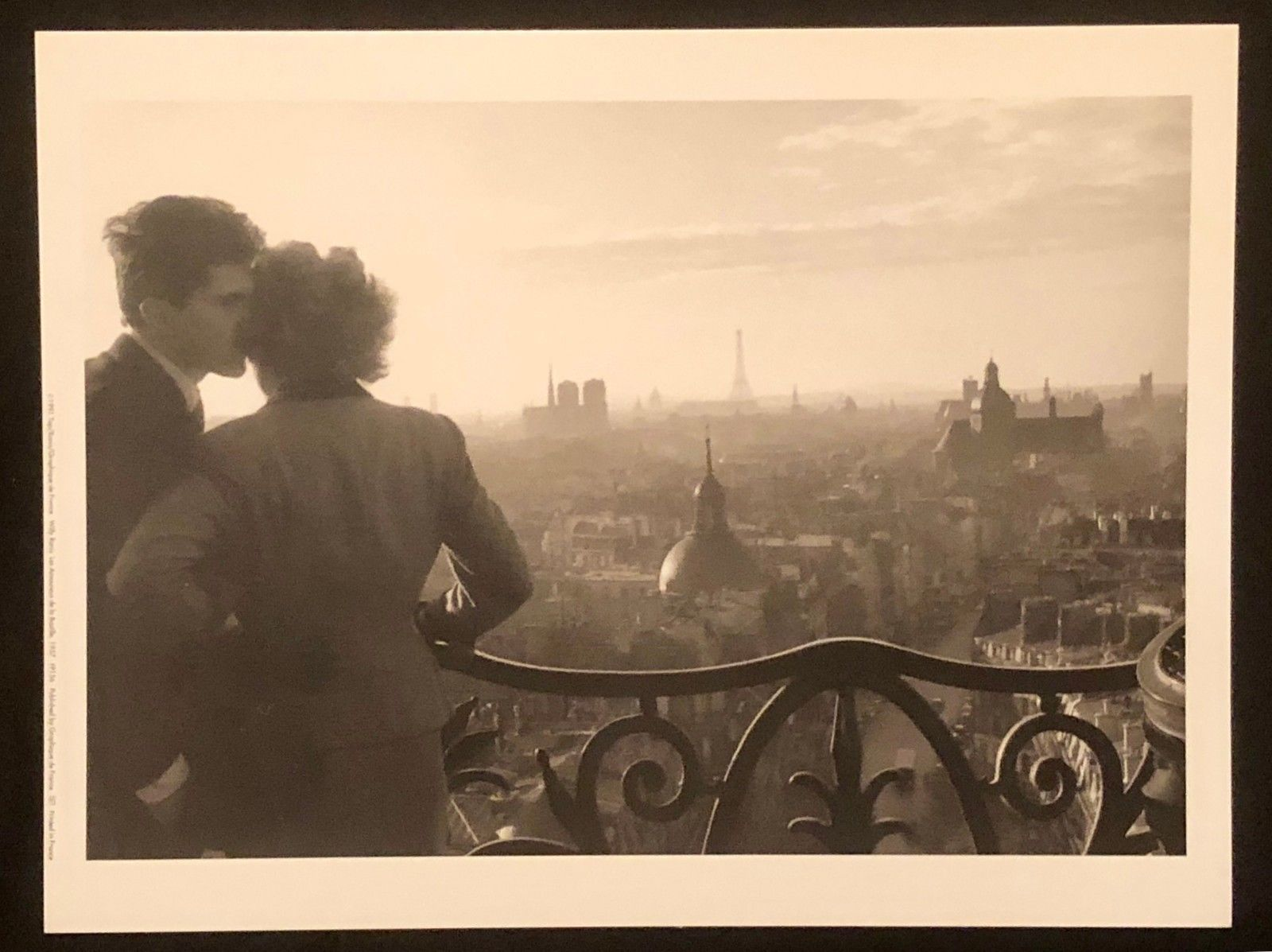 Primary image for WILLY RONIS Photograph Les Amoureux Paris 9x12 Lithograph Portfolio Print