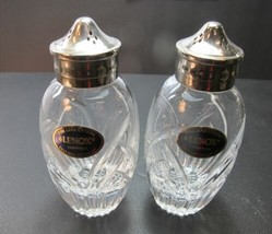 Lenox Cut glass Saratoga salt and pepper Crystal Made in USA mouth blown - $23.36