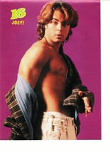 Joey Lawrence teen magazine pinup clipping shirtless nipple take off his shirt