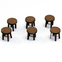 4Ground 28mm Furniture: Light Wood Stool (A)