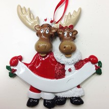 Moose Family 2 3 4 5 6 Personalized Christmas Ornament Kit - $14.95