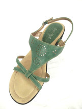 Soft Style Hush Puppies Womens 11W Soft Delight Green Green Side Buckle ... - $15.67