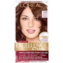 L'Oreal Excellence Creme Triple Protection Color - 5RB Medium Reddish Brown - $10.99
