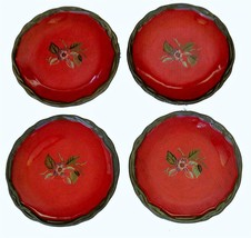 "4 Tracy Porter OCTAVIA HILL Thick Heavy Berries Fruit 8"" Salad Plates DI... - $34.99"
