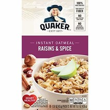 Quaker Instant Oatmeal, Raisin & Spice, Breakfast Cereal, 10 count, 1.51... - $36.87