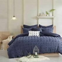 Urban Habitat Brooklyn Cotton Jacquard Duvet Cover Set Full/Queen INDIGO SEALED