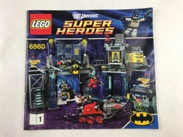 Lego 6860 Super Heroes Instructions Booklet / Manual Only DC Universe 2012 - $8.15