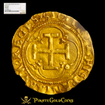 "Spain 1 Escudo 1516-1556 ""Full Legends"" Gold Cob Doubloon Ngc 58 Treasure Coin! - $1,850.00"