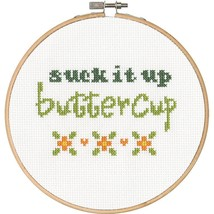 70-74633 Simplicity Buttercup with Cotton Thread, Counted Cross Stitch New - $19.31
