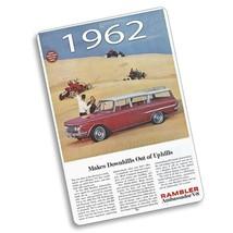 1962 Rambler Ambassador V-8 Sand Dunes Magazine Ad Design Aluminum Sign - $15.79