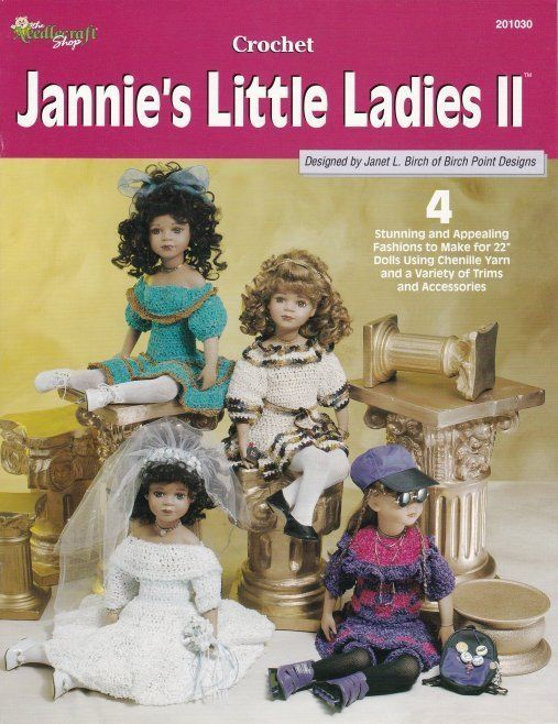 Primary image for Jannie's Little Ladies II Crochet Wedding Dress Rocker Sunday Best Fantasy OOP