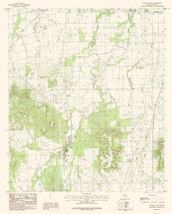 Buffalo Gap Texas Quad - USGS 1984 - 23 x 28.65 - $36.95+