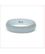 Tiffany & Co Somerset Mesh Bangle Bracelet Sterling Silver - Retired - $275.00