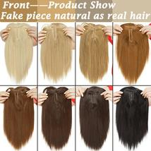 NEW 11'' Lady Hair Topper Real One Piece Full Head Clip In Hair Extension image 12