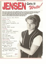 Jensen Ackles teen magazine pinup clipping in his handwritting get's it right