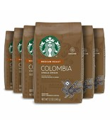 STARBUCKS COLOMBIA MEDIUM ROAST GROUND COFFEE 12OZ PACK OF 6 - $52.98