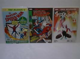 AMAZING SPIDER-MAN #1, 101 & SPIDER-GWEN #1 (TRUE BELIEVER) - FREE SHIPPING - $18.70