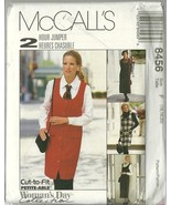 Mccall s sewing pattern 8456 misses womens jumper in 2 lengths size 16 18 20 uncut  1  thumbtall