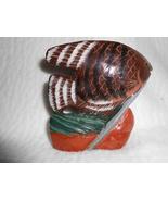 HAND-CRAVED GRANITE FISH FIGURINE HAND PAINTED NEW IN BOX - $24.95