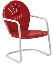 Crosley Furniture Griffith Metal Outdoor Chair - Red - $65.39