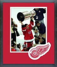 Joe Kocur with 1998 Stanley Cup® Championship Trophy-11x14 Matted/Framed... - $43.55