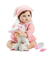Aori Reborn Baby Doll Lifelike Weighted Girl Doll 22 Inch with Bunny Set... - $60.07