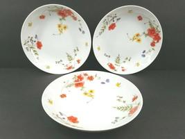 """3 Jardin Nadine 7 3/4"""" Soup Cereal Bowl Vintage Fine China Floral Flower... - $59.37"""