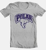 Polar Beer T-shirt retro vintage style distressed print grey graphic tee image 2