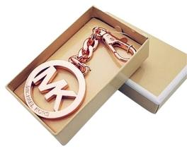 Michael Kors Key Charm MK Key Chain Fob NWT Rose Gold Medallion Logo - $29.14