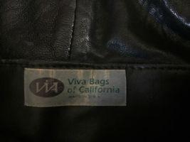 Black Buttery Leather Viva Of California Shoulder Bag Hobo Purse Retro USA Made image 3