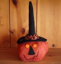 Halloween Decorations - Pumpkin Witch with Spider on Hat - Plush Hallowe... - $51.97