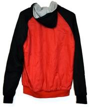 True Religion Red & Navy Blue Lined Reversible Windbreaker Hooded Jacket Size S image 2