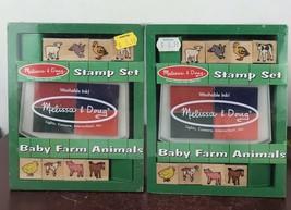 Melissa & Doug Stamp Set Baby Farm Animals  (2sets) - $9.50