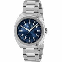 Gucci GG2570 Collection YA142303 Blue Dial Stainless Steel Men's Watch - $559.99