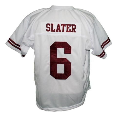 Ac slater  6 saved by the bell men football jersey white 2