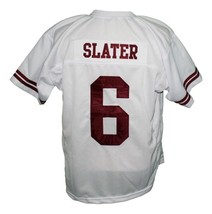 AC Slater #6 Saved By The Bell Men Football Jersey White Any Size image 1