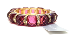 Lydell NYC Gold Rhinestone Stretch Bracelet  - ₨685.82 INR
