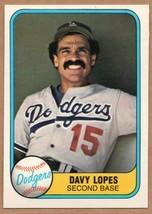 1981 Fleer baseball card #114 a Error Davey Lopes VHTF with finger/hand ... - $23.95