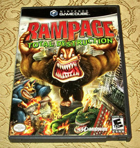 Rampage Total Destruction Nintendo GameCube 2006 COMPLETE + Case + Book + Insert - $20.56