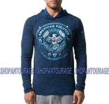 American Fighter Mccarthy FM8031 Men`s Sport L/S T-shirt with Hood By Affliction - $55.95
