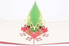 Christmas Tree Pop-Up Greeting Card Handmade Happy Birthday Anniversary 105 - $4.99