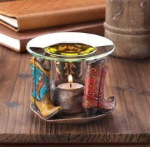 Cowboy Boot Western Hat Oil Wax Warmer Tealight... - $21.99