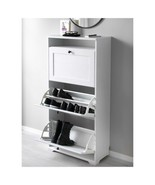 "IKEA BRUSALI Shoe cabinet with 3 compartments, white, 24x51 1/8 "" - $128.69"