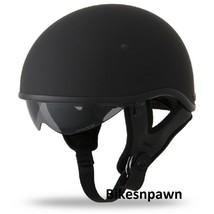 New M Flat Black Fly Racing DOT Approved .357 Motorcycle Half Helmet image 1